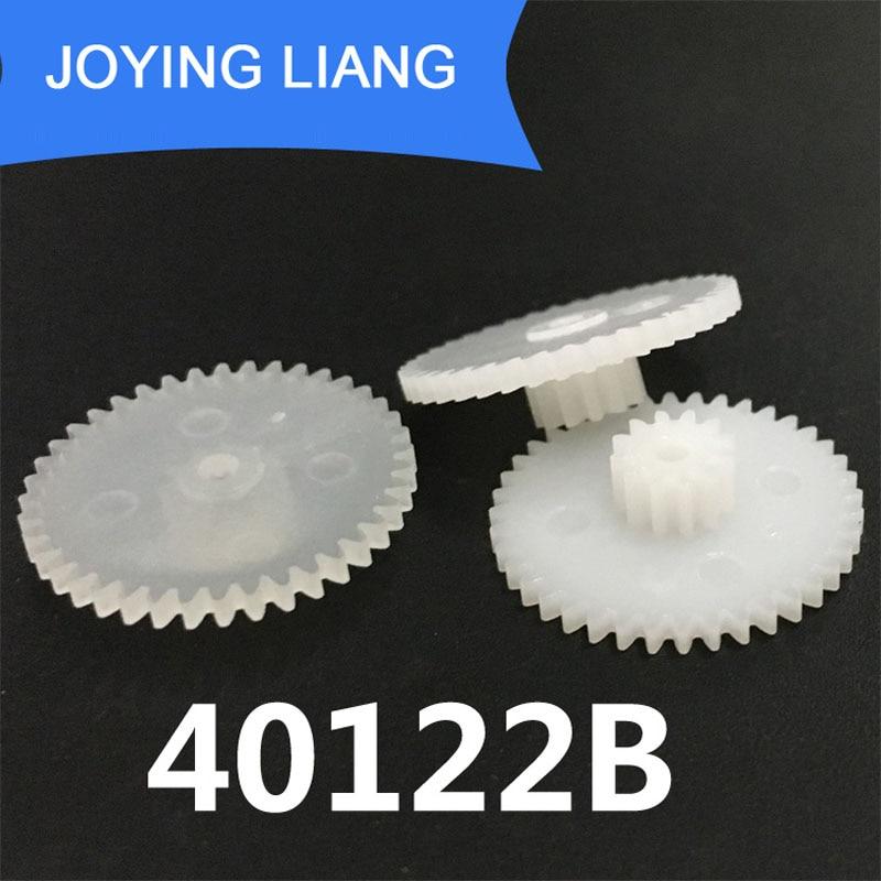 40122A 40122B, ruedas de engranaje de 0,5 M, 21mm de diámetro exterior, piezas de juguete de plástico para engranajes de juguete, 10 unidades por lote