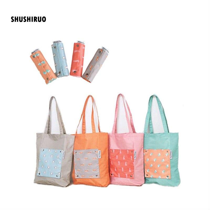 SHUSHIRUO Экологичная складная дорожная сумка для покупок женские сумки