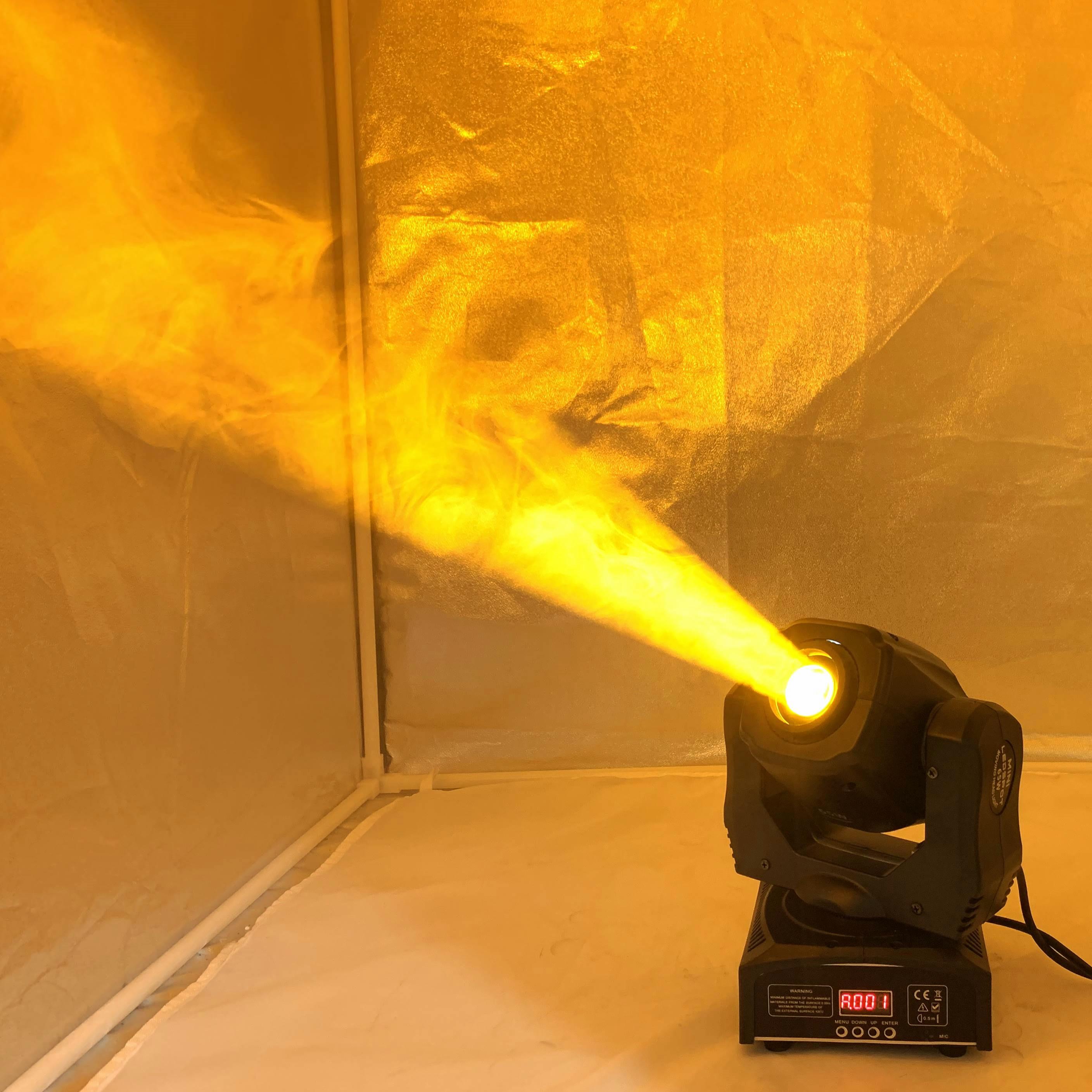 LED Spot luz con cabezal móvil/EE. UU. Luminums foco led para dj luz 65W gobo LED DJ escáneres super brillante LED dj discoteca Luz