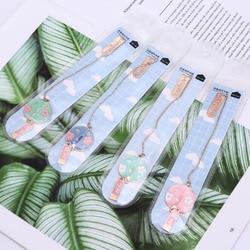 Fã da flor Forma Pingente Marcador Bonito Kawaii Tag Livro Clipe de Papel Criança Estudante Escola Escritório Papelaria Marcador