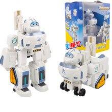 6 stilleri süper kanatları Donnie araba + uçak Fit robot aksiyon figürü oyuncakları süper kanat model dönüşüm robot noel hediyeleri için