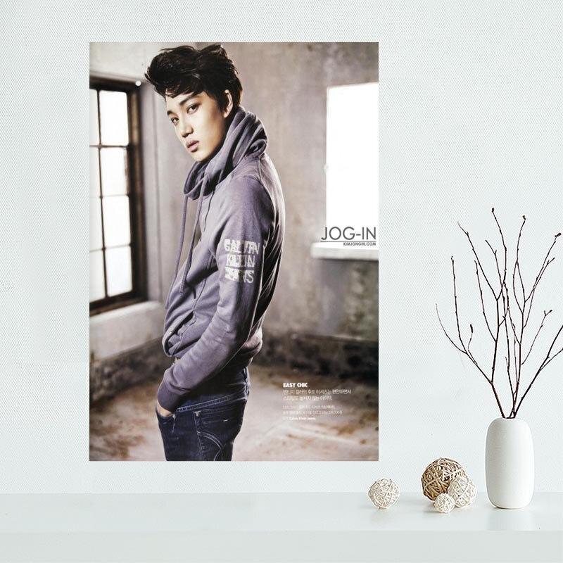 Bonito póster EXO Kai personalizado arte en póster de lienzo tejido decorativo para el hogar, póster de pared de tela impresa de seda