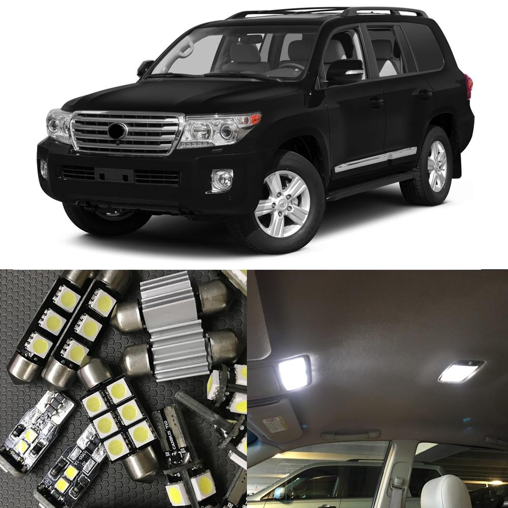 14 Uds blanco No Error bombillas de luz LED Kit 2009-2016 Toyota Land Cruiser/Land Cruiser Prado Interior mapa cúpula puerta luz de paso