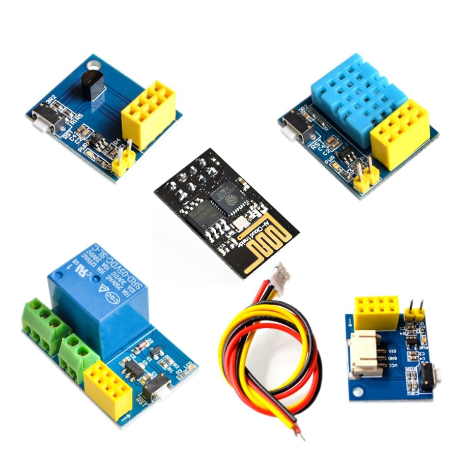 ESP8266 5V WiFi módulo de relé cosas smart home control remoto interruptor teléfono APP DHT11 WS2812 DS18B20 con ESP-01 ESP-01S