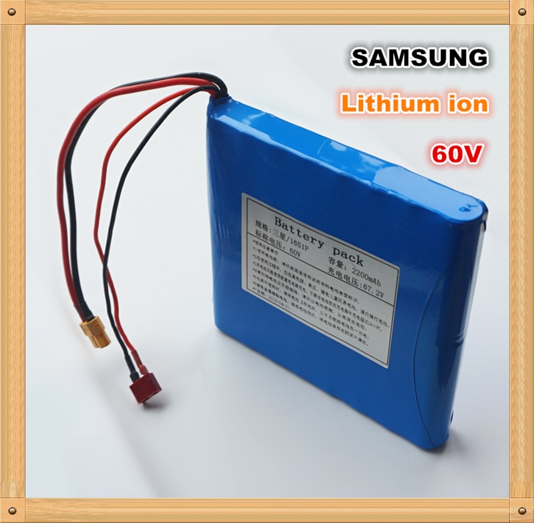 100%SAMSUNG Original forSAMSUNG 60V 132WH Li-ion Rechargeable Battery 2200mAh for Electric unicycles