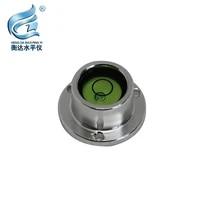 mini bullseye horizontal metal shell bullseye level measuring instrument universal round metal bubble horizontal level bubble