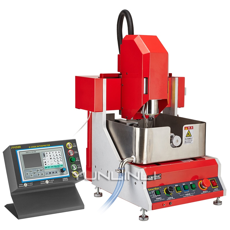 carving engraving wax goldsmith tool green jewelry waxing for injection setting jewelry making model 24000rpm 800w CNC Jewelry Engraving Machine 4 Axis Electric Multifuction Jade Wax Silver Jewelry Carving Machine SMART