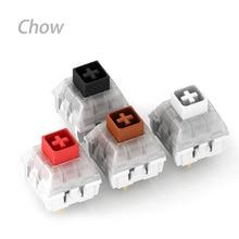 Interruptor de teclado mecánico Kailh, 10 Uds., IP56, impermeable, negro, marrón, blanco, interruptores silenciosos, interruptor de caja
