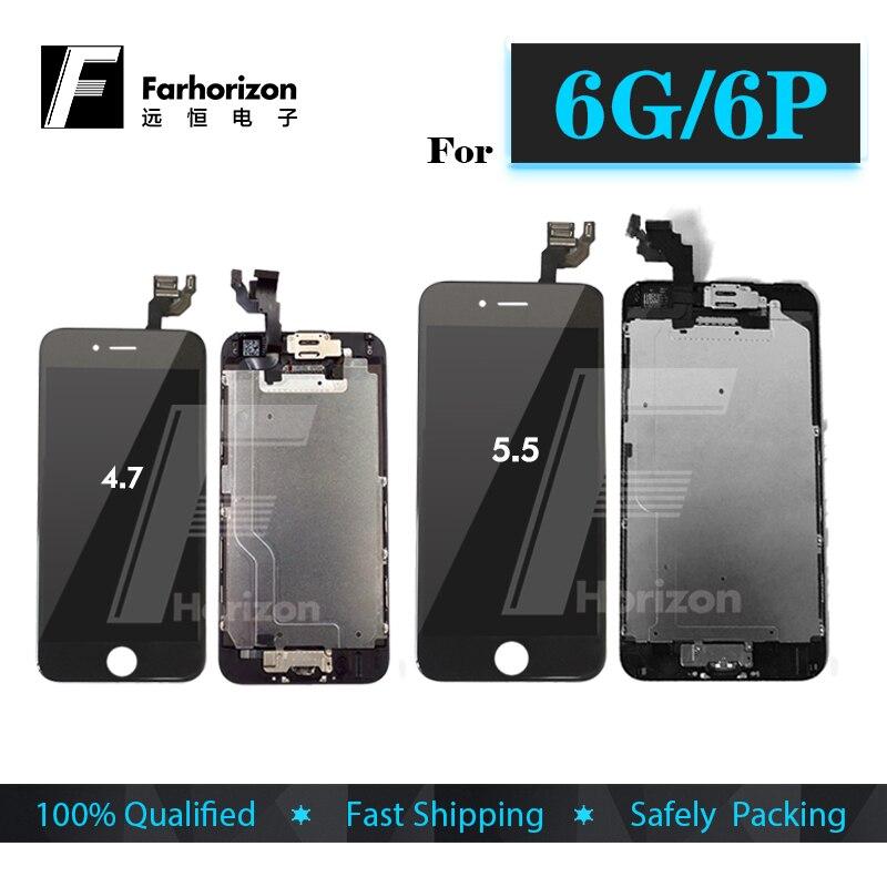 Venta al por menor para iPhone 6G 6 Plus LCD pantalla probada grado AAA 5,5 pulgadas pantalla táctil reemplazo completo y herramientas libres