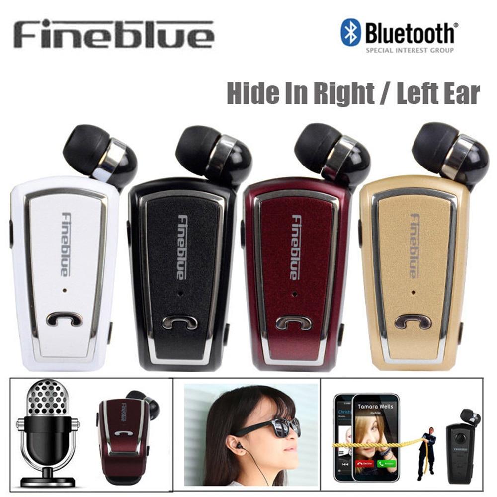 Fineblue F-V3 negocios inalámbrico Bluetooth 4,0 micrófono incorporado en la oreja auricular impermeable para todos los dispositivos de habilitación Bluetooth