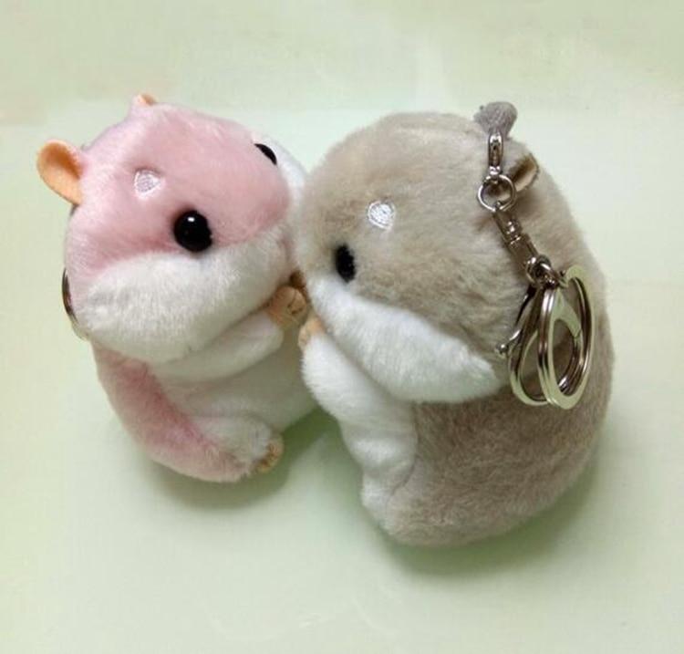 12cm Fur Pompom Keychain Fluffy Key Chains For Cars Hamster Keyrings Car Trinkets Key Chain Faux Rabbit Fur Pom Pom Keychains