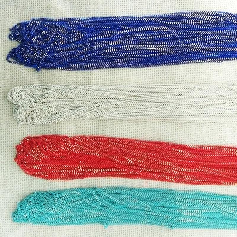3 metro sprey pintura chains Links vinculados-Aberto Cabo minúsculo Cadeia borlas brincos colar lariat Achados retro collier femme