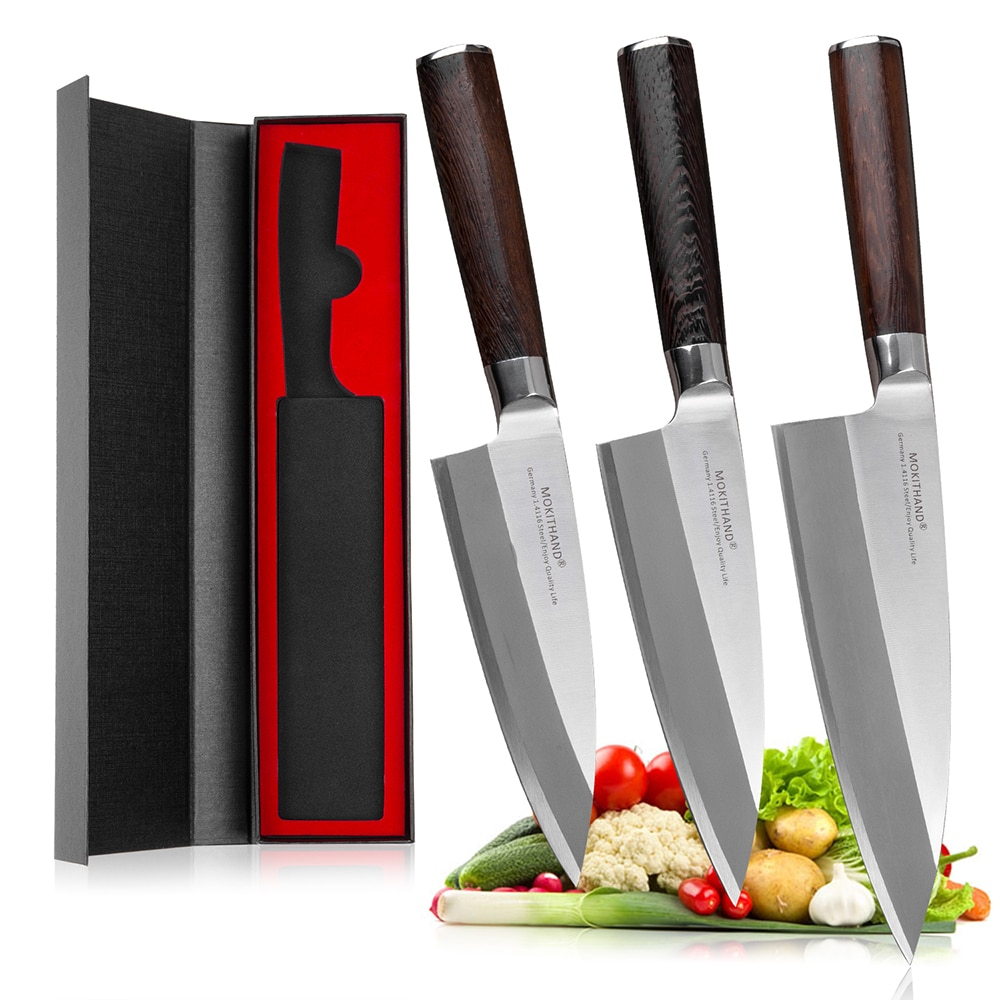 Mokithand-سكاكين لتقشير السمك اليابانية ، فولاذ عالي الكربون ، ألماني ، 1.4116 ، سوشي ، سمك السلمون ، فولاذ مقاوم للصدأ ، ديبا