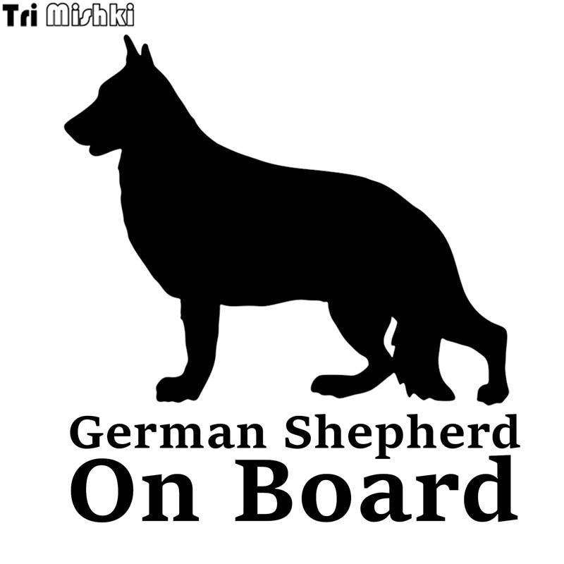 Tri Mishki HZX358 #16,1*15 cm deutsch shepherd an bord auto aufkleber auto lustige auto aufkleber