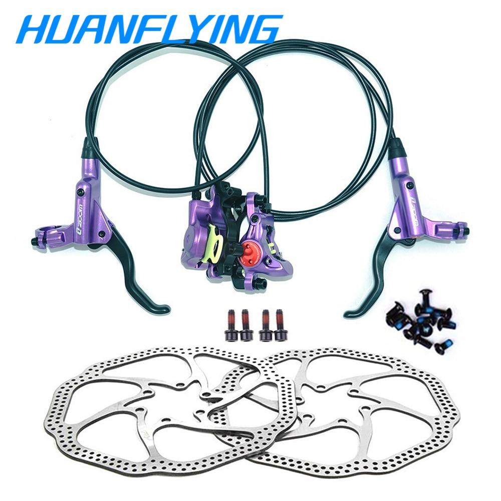 Zoom Bremse Hb-875 MTB Bike Hydraulische Scheiben Bremse Set HS1 Clamp Bremse Ziehen Linie Öl Schüssel 800/1400mm hydraulische scheiben bremse groupset