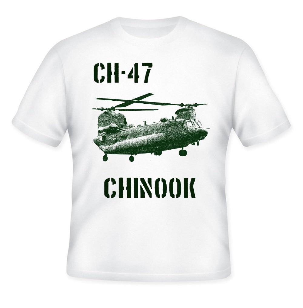 Ch-47 Chinook Helicóptero-Nova Camiseta Branca De Algodão novo 2019 Moda Homens de Alta Qualidade camiseta Casual T-shirt