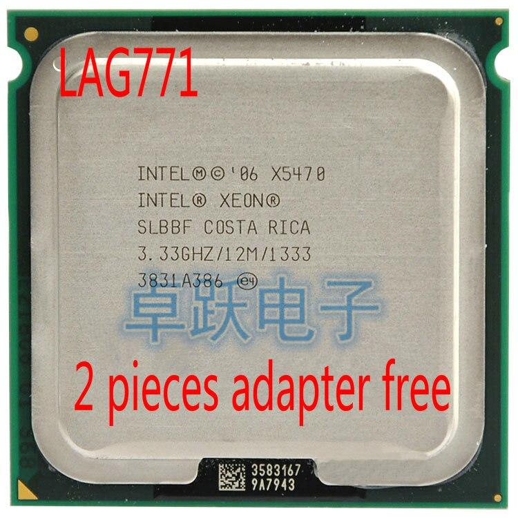 Lntel Xeon X5470 Original, 1333 MHZ, 3,33 GHz, LGA 771, procesador de CPU (da dos adaptadores de 771 a 775)