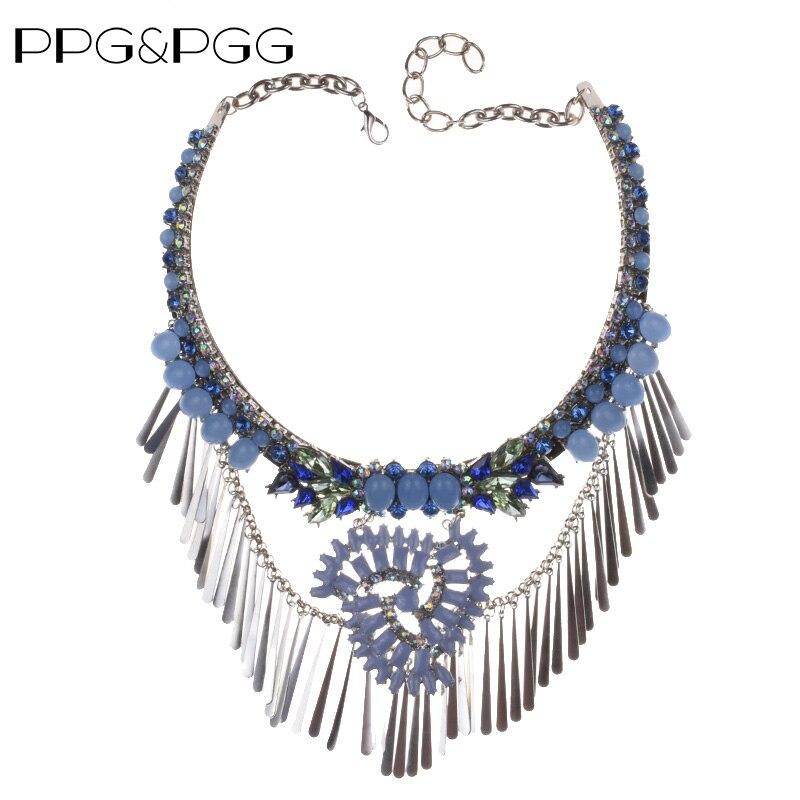PPG & PGG nueva cadena Bohemia gran marca Maxi Vintage colgantes para collares con borlas traje collares de declaración Mujer gargantilla joyería