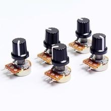 5 pièces 10 K 1 K 100 K 5 K 50 K OHM 3 bornes potentiomètre rotatif conique linéaire B10K 103 pour Arduino