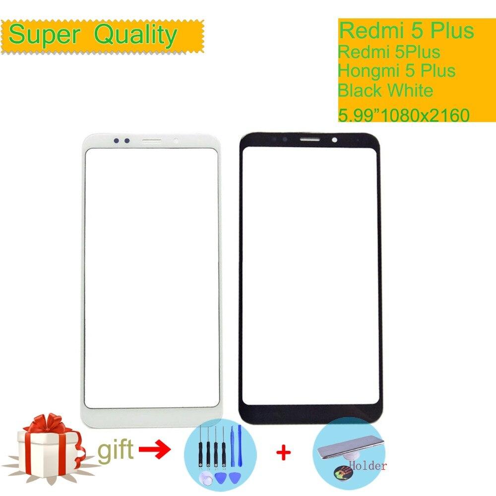 Per Xiaomi Redmi 5 Plus 5 Plus pannello Touch Screen lente frontale in vetro esterno Redmi 5 Plus Touchscreen NO digitalizzatore LCD 5.99