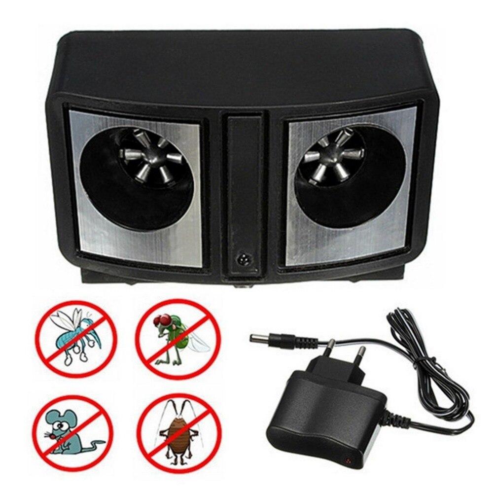 Repelente de plagas Ultra sónico electrónico de ahorro de energía, repelente sónico Dual de rata ratones, Control de roedores, mosquitos, cucarachas, insectos, enchufe europeo de baja potencia