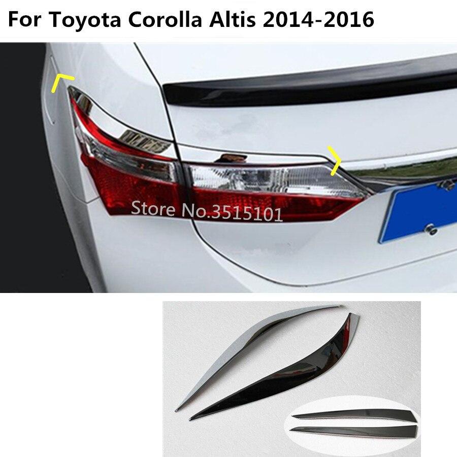 Задний задний фонарь для кузова автомобиля, лампа, детектор, рамка, ручка, Стайлинг, ABS хромированная крышка, отделка бровей для Toyota Corolla Altis 2014 2015 2016