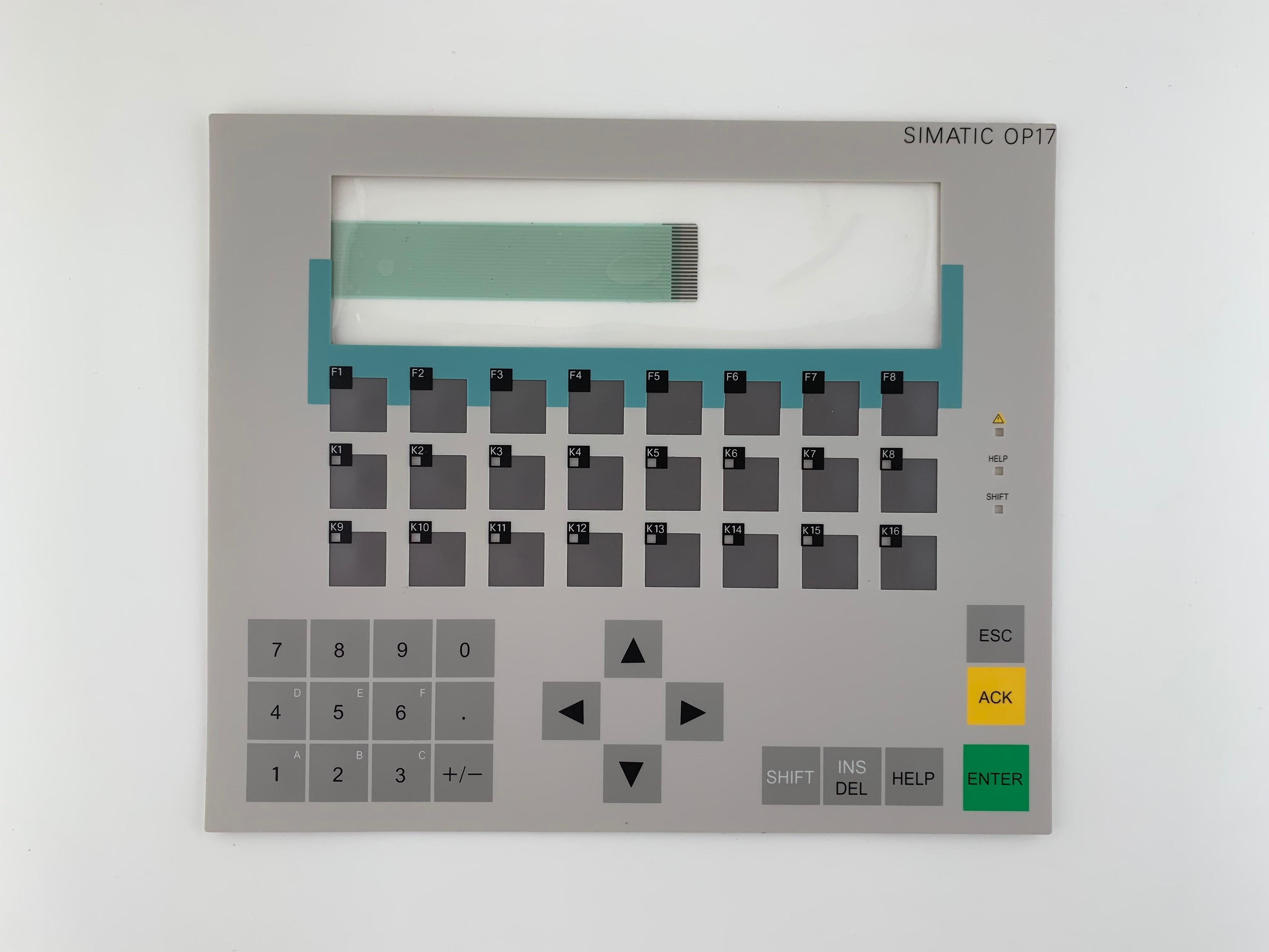 6AV3617-1JC20-0AX1 OP17 ، SIMATIC طبقة رقيقة واقية ، لوحة مفاتيح غشائية ل SIMATIC لوحة إصلاح ، في الأسهم