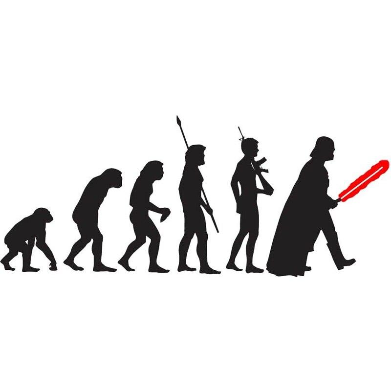 """POOMOO Decalques Da Parede Grande STAR WARS Darth Vader EVOLUÇÃO Vinil Decalque Gráficos Auto Adesivo de Parede 12"""""""