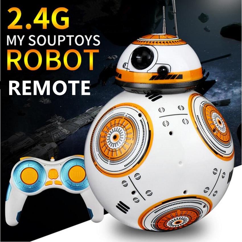 1 Actualización de PC RC BB8 Robot con sonido y baile figura de acción para regalo juguetes 2,4G Control remoto BB-8 Robot inteligente Robot BB 8 Bola de juguete