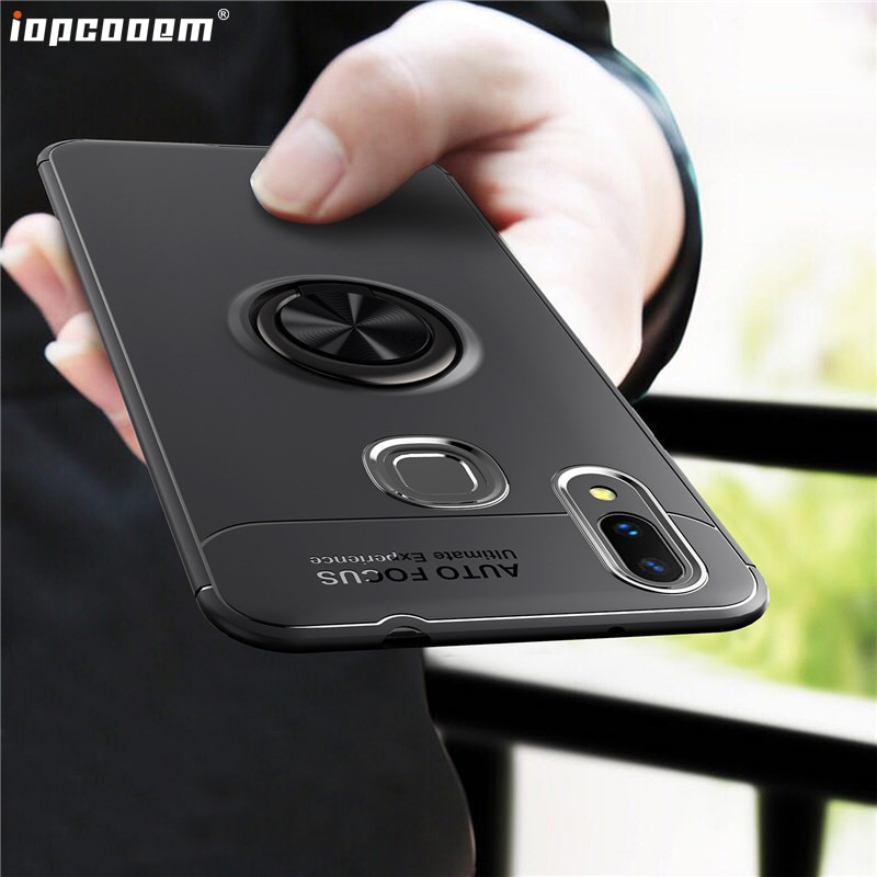 Para Huawei NOVA 3i funda NOVA 3 negocios con anillo magnetismo soporte funda trasera del teléfono para Huawei P Smart Plus Coque