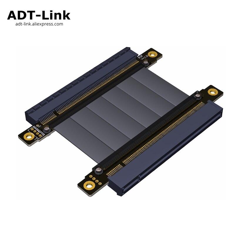 Riser PCIE 16x Gen3.0 para 16x128g/bps fêmea para fêmea Placa Gráfica pci e PCI-E pci express x16 para x16 riser cartão cabo Extensor