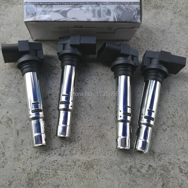 4 шт. катушка зажигания 036 905 715 F , 036 905 715F , 036905715F для VW Golf Jetta Bora Beetle Polo Sharan AUDI A1 A3 1.6FSI 1,4 T