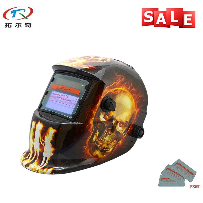 Equipamentos de solda Cor Crânio Arco Semi Ferramentas de Soldagem Moagem Moagem Máscara Capacete de Soldagem HD14-2200DE Olho-Protetora
