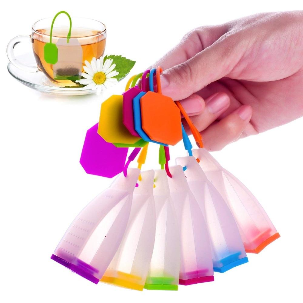 1Pcs תיק סגנון סיליקון תה Infusers תה מסננות תבלינים צמחים תה Infuser מסנני ריחני מטבח קפה תה כלים