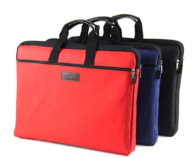3 differents style red/blue/black/brown A4 Briefcase bag for Office Man Woman