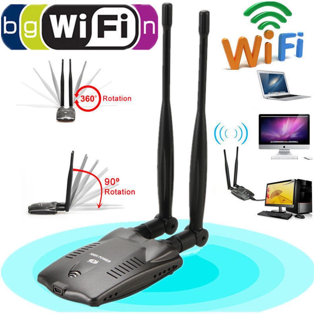 USB inalámbrico Wifi adaptador Beini Internet gratuito de largo alcance 3000mW antena Dual Wifi Blueway decodificador Ralink 3070 BT-N9100