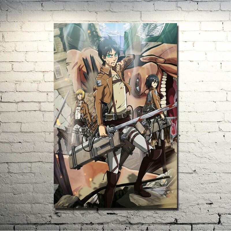 Ataque a Titan 1 2 Mikasa Ackerman Anime arte tela de seda póster impreso 13x20 pulgadas imágenes para habitación decoración 002