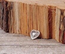 20pc 13*12mm Bling Sliver Floral Sweet Love Heart Handmade LeatherCraft Decor Conchos Set Rivet Stud Bag Hatband Decor