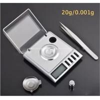 1pc 0.001g / 20g Digital Milligram Gram Electronic Scale scales Balance Weight Weighing platform diameter 2cm