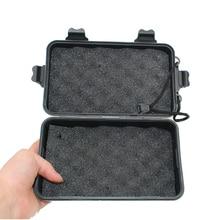 Универсальный Водонепроницаемый Анти-осенний черный пластиковый ящик для хранения для вспышки светильник фонарь лампа зарядное устройств...