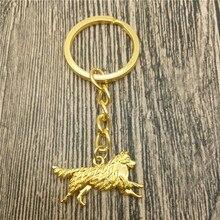 Australian Shepherd Key Chains Fashion Pet Dog Jewellery Australian Shepherd Car Keychain Bag Keyring For Women Men