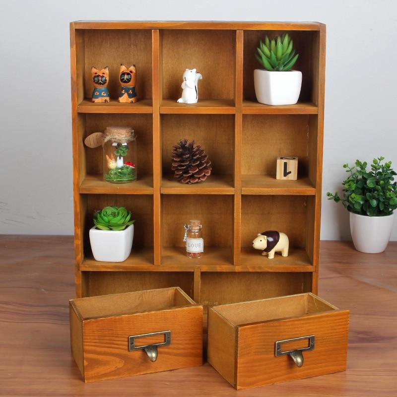 1 قطعة زكا الخشب درج خزائن خشبية خزائن شنقا خزانة الرجعية خشبية عرض تخزين مربع 33x9.5x42 سنتيمتر JL 0942