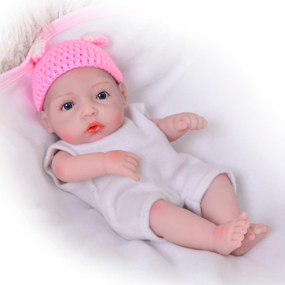 Muñeca bebé Reborn, vinilo completo de silicona, muñeca princesa de 11 pulgadas que luce Real con ropa hecha a mano, conjunto de ropa para niños, regalo de cumpleaños
