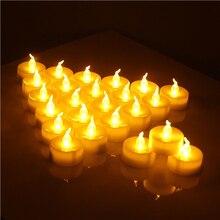 Bougies de thé scintillantes sans flamme 12 pièces/paquet   Bougies de thé scintillantes, bougie de mariage, décoration de maison de sécurité