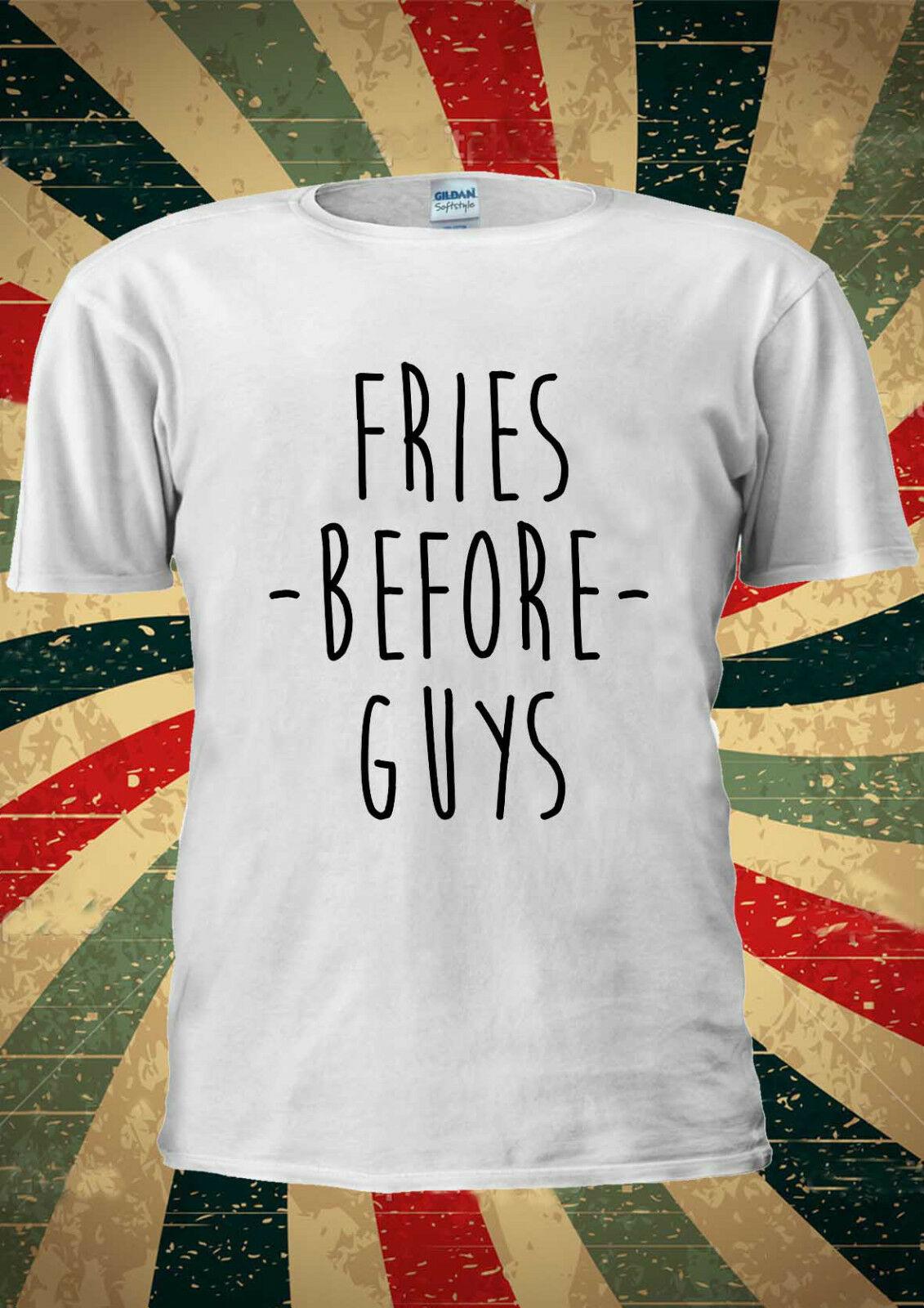 Papas fritas antes chicos Tumblr Cool Indie camiseta chaleco Top hombres mujeres Unisex 1869 verano cuello redondo tee, envío Gratis barato tee