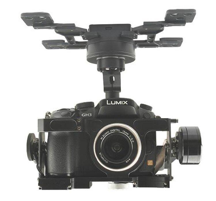 HG3D + 3 ejes cardán sin escobillas 360 grados integrado HDMI a AV Disparador remoto para FPV GH3/4/ 5 cuadricóptero de fotografía aérea