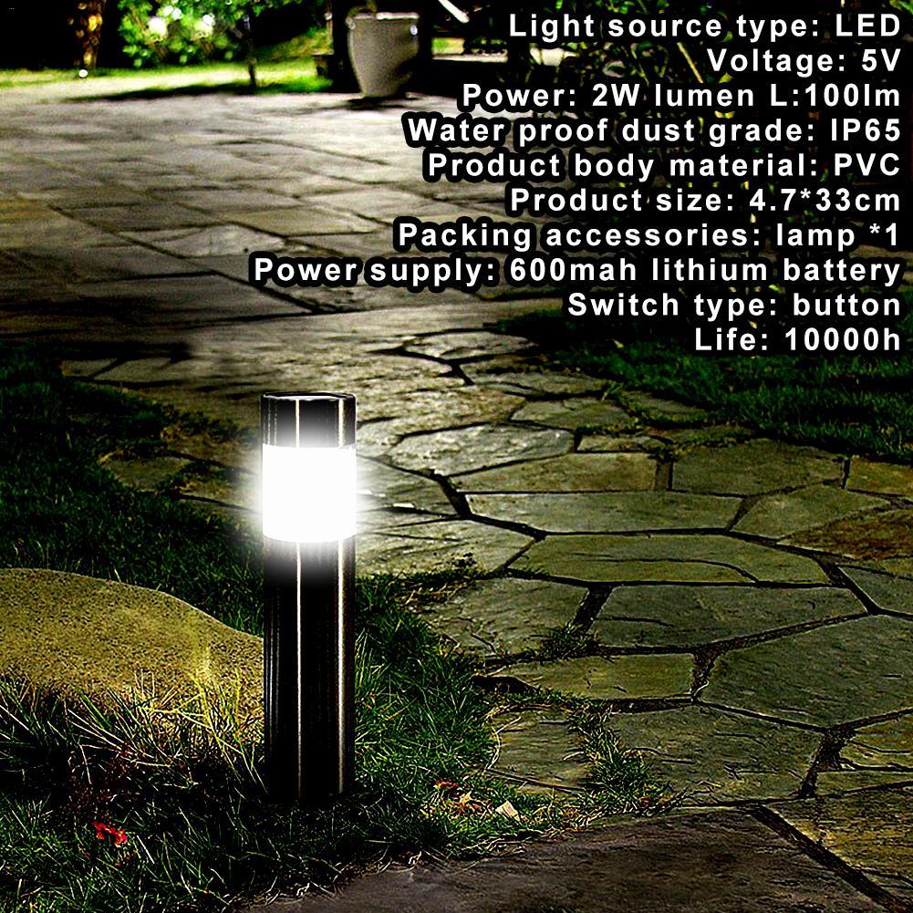 1 stücke Edelstahl Led Solar Rasen Lampe Outdoor Garten Pfad Rasen Licht Solar Poller Licht Weißes Licht Led Solar lampe