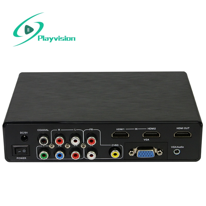 Convertidor multifunción 4K hd todas las señales vga cvbs usb ypbpr hdmi a hdmi soporta todas las fuentes de señal y dispositivo de visualización hd