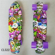 Mini Cruiser Skateboard LED Licht Vier Wiel Skate Board Volwassen & kinderen Tablas De Skate Board Geladen Skateboard Compleet