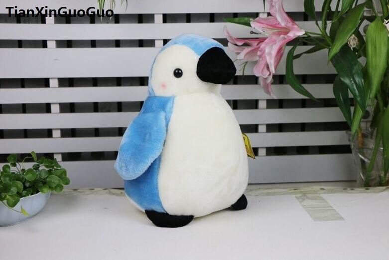 Grand 33 cm belle bleu pingouin doux poupée en peluche jeter oreiller cadeau danniversaire h2090